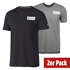 Puma T-Shirt Athletics Style 2er Set grau/schwarz (1)