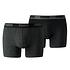 Puma Boxershorts 2er Pack Retropants Schwarz/Grau