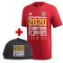 Adidas FC Bayern München T-Shirt CL Sieger 2020 Rot + CL Cap schwarz