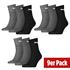 Puma Socken Mid 3er Pack - 3er Set = 9 Paar Socken weiß/schwarz/grau (1)