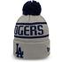 New Era Los Angeles Dodgers Beanie Bobble Knit grau/schwarz (1)
