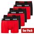 Puma Boxershorts 6er Pack Retropants Schwarz/Rot