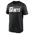 Nike New Orleans Saints T-Shirt Team Name Sideline schwarz (1)