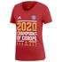 Adidas FC Bayern München T-Shirt CL Sieger 2020 Damen Rot (1)