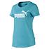 Puma T-Shirt ESS Damen Blau (1)