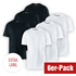Cotton Butcher 6er Set T-Shirt Mix Rundhals 3+3 Schwarz/Weiß
