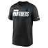 Nike Carolina Panthers T-Shirt Team Name Sideline schwarz (1)