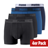 Puma Boxershorts 4er Pack Retropants Schwarz/Dunkelblau/Marine (1)