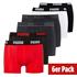 Puma Boxershorts 6er Pack Retropants Schwarz/Weiß/Rot