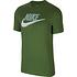 Nike T-Shirt Futura Icon Grün/Silber