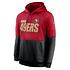 Nike San Francisco 49ers Hoodie Team Lockup Therma rot/schwarz (1)