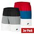 Nike Freizeit- und Badeshorts 3S 2er Set Schwarz/Rot (1)