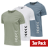 hummel 3er Set T-Shirt Duncan Bio-Baumwolle china blue/weiß/vetiver