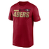 Nike San Francisco 49ers T-Shirt Team Name Sideline rot (1)