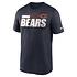 Nike Chicago Bears T-Shirt Team Name Sideline marine (1)