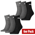 Puma Socken 6er Pack Mid SW/Grau/Anthrazit