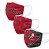 Forever Collectibles Tampa Bay Buccaneers Mund-Nase Maske 3er Pack rot (1)