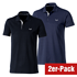 Cotton Butcher 2er Set Poloshirts Tennessee Pique Schwarz/Blau