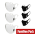 Adidas 6er Set Mund-Nase Maske Familie 3 Weiß/Schwarz