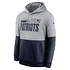 Nike New England Patriots Hoodie Team Lockup Therma grau/college navy (1)