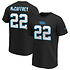 Fanatics Carolina Panthers T-Shirt Iconic N&N McCaffrey No 22 schwarz (1)
