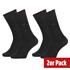 Calvin Klein Socken 2er Pack CREW CARTER Schwarz