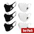 Adidas 6er Set Mund-Nase Maske Schwarz/Weiß