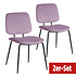 BREAZZ Stuhl School Velvet 2er Set pink (1)