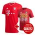 Adidas FC Bayern München Kinder Set Heim Trikot + Shirt CL Sieger 2020 Rot (1)