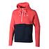 Nike Hoodie Sportswear Club Fleece Rot/Blau (1)
