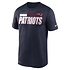 Nike New England Patriots T-Shirt Team Name Sideline navy (1)