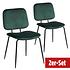 BREAZZ Stuhl School Velvet 2er Set grün