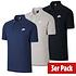 Nike Poloshirt Sportswear UNI 3er Set Schwarz/Grau/Blau (1)