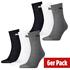 Puma Socken 6er Pack Mid SW/Grau/Weiß