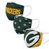 Forever Collectibles Green Bay Packers Mund-Nase Maske 3er Pack grün (1)