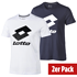Lotto T-Shirt Smart Logo 2er Set navy/weiß/schwarz (1)