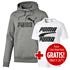 Puma Hoodie ESS No. 1 mit T-Shirt Rebel Basic 2er Set grau/weiß (1)