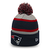 New Era New England Patriots Beanie Striped Cuff Knit blau (1)