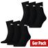 Puma Socken 6er Pack Mid Schwarz