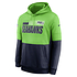Nike Seattle Seahawks Hoodie Team Lockup Therma college grün/navy (1)