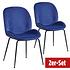BREAZZ Stuhl Ladybug Velvet 2er Set blau (1)