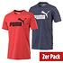 Puma T-Shirt ESS 2er Set Blau/Rot (1)