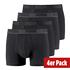 Puma Boxershorts 4er Pack Retropants Schwarz