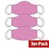 3er Set Mund-Nase Maske Damen Punkte Rosa