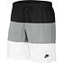Nike Freizeit- und Badeshorts 3S Schwarz/Grau/Weiß