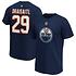 Fanatics Edmonton Oilers T-Shirt Iconic N&N Draisaitl No 29 navy (1)
