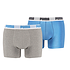 Puma Boxershorts 2er Pack Retropants Grau/Blau