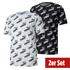 Puma T-Shirt Amplified AOP 2er Set weiß/schwarz (1)