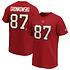 Fanatics Tampa Bay Buccaneers T-Shirt Iconic N&N Gronkowski No 87 rot (1)