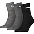 Puma Socken 3er Pack Mid SW/Grau/Anthrazit (1)